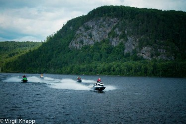 Photo of Rock face north of Mattawa on Ottawa River Sea Doo Tour Blast