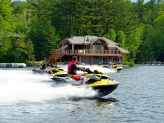 Photo of an Incredible boat house on Muskoka Sea Doo Tour
