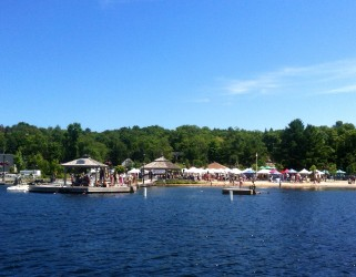 Photo of Public wharf and Farmers' Market at Rosseau on Muskoka Sea Doo Tour