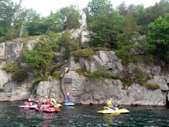 Photo of Statue of St. Lawrence on 1000 Islands Sea Doo Tour