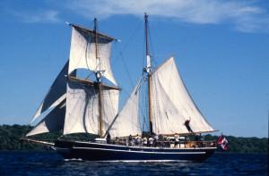 Tall ship near Kingston on the Rideau Canal Sea Doo Tour