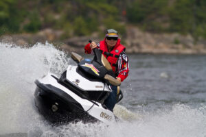 Rider wearing sunglasses or riding goggles as Accessories For Sea Doo Tours