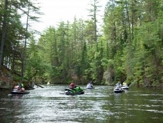 Photo of Back channel waterfall on Ottawa River Sea Doo Tour