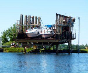 Six Best Ontario Waterway Bypass Systems: Big Chute Marine Railway